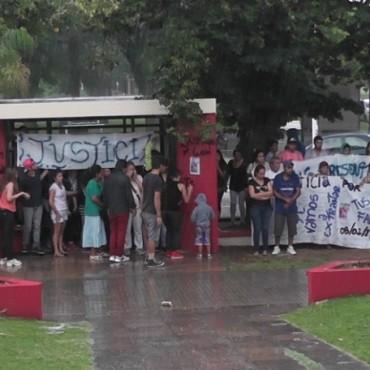 Marcha para reclamar por la muerte de Luciano Bustos