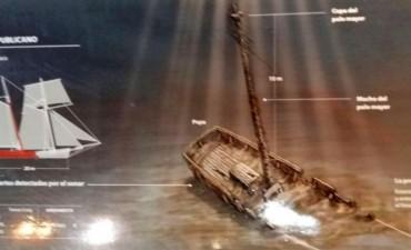 Hallaron un barco de la batalla de Obligado sumergido en el Paraná