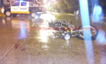 Accidente en Avenida San Martín