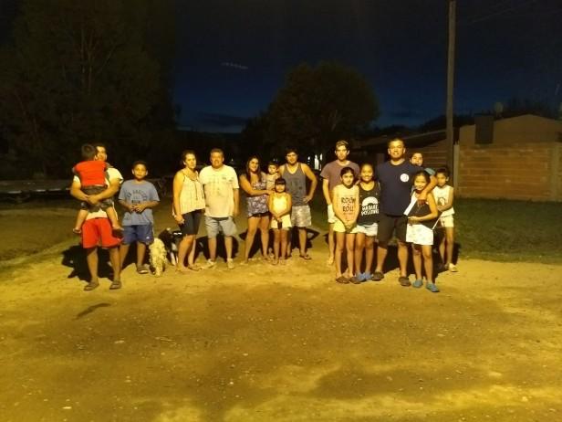 Barrio Las Ranas: restablecieron la iluminación
