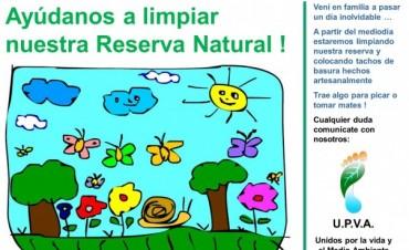 """Invitación a la comunidad: """"Ayúdanos a limpiar nuestra Reserva Natural"""""""