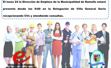 La oficina de empleo en Villa General Savio