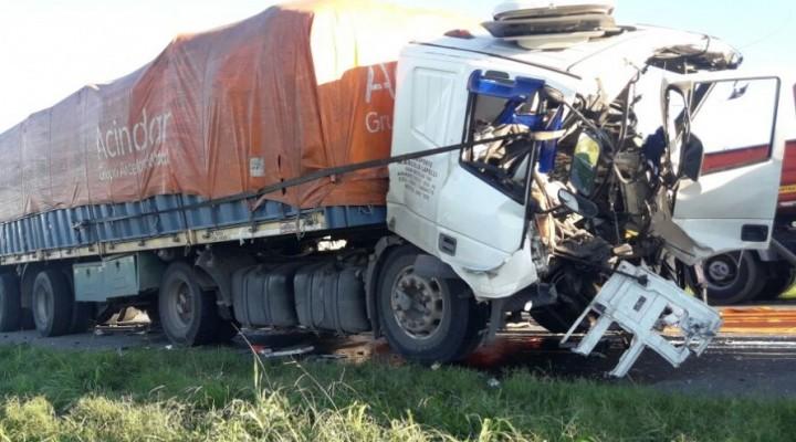 Impresionante accidente por alcance en ruta 9