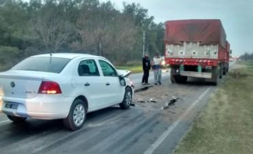 Accidente en el camino de la Costa