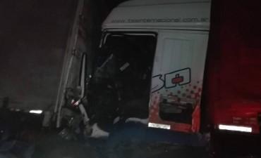 Accidente de camiones en el kilómetro 205