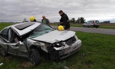 Violento accidente en ruta 9
