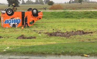 La lluvia dejó como saldo dos accidentes en la autopista
