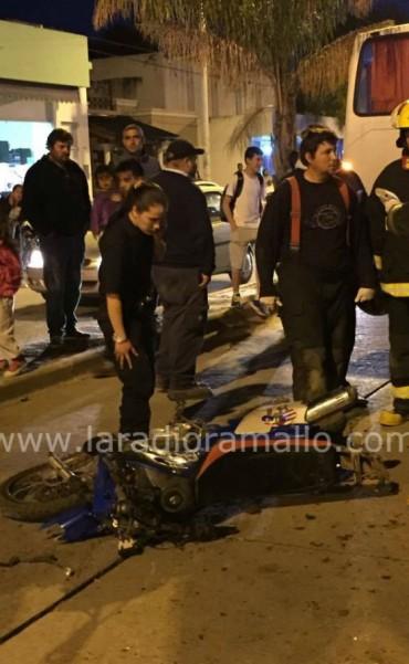 Grave accidente en el centro de Villa Ramallo