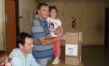 Santalla y Poletti votaron por la tarde