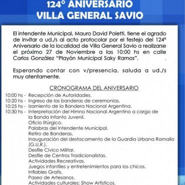 Villa General Savio festeja