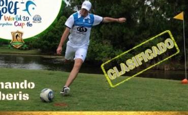Fernando Barberis clasificó para el Mundial de Footgolf