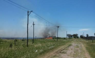 Incendio de pastizales en Villa General Savio
