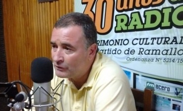 "Intendente Poletti ""Nunca se pavimentaron tantas cuadras como este año en el partido de Ramallo"""
