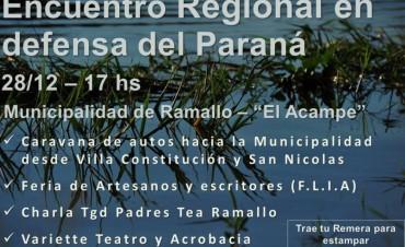 Encuentro en defensa del río Paraná