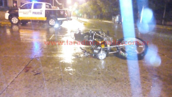 Accidente en Avenida San Martín