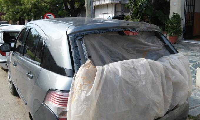 Accidente de transito en el ingreso a Barrio Santa Teresa