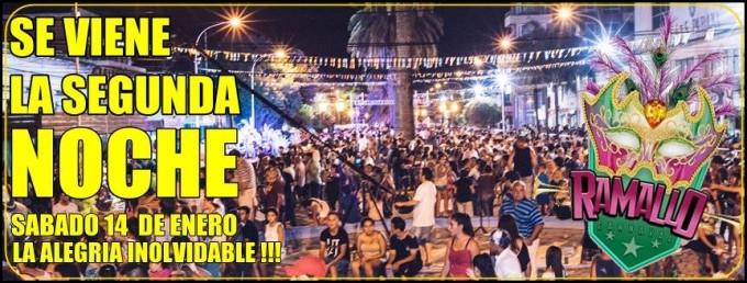 Segunda noche de carnavales a precios populares en Ramallo