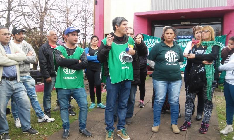 """Lescano """"para nosotros como trabajadores del estado era sumamente importante incorporar a todos estos compañeros que están como temporarios a planta permanente"""""""