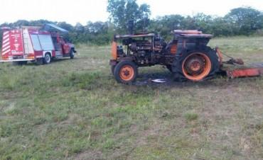 Incendio de tractor