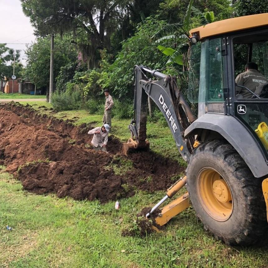 El Municipio realiza trabajos de extendido de la red de agua potable