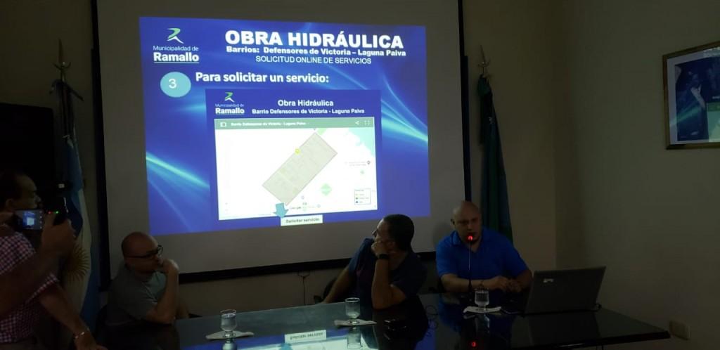 Plan hidraúlico para los barrios Laguna Paiva y Defensores de Victoria