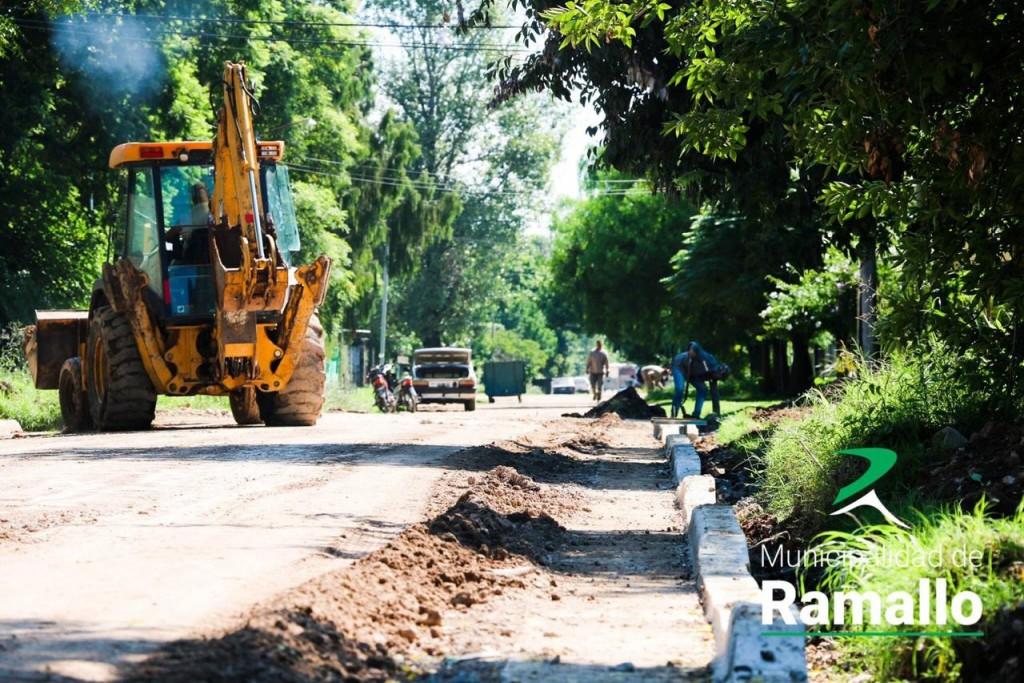 Avanza la obra de asfaltado en Villa Ramallo