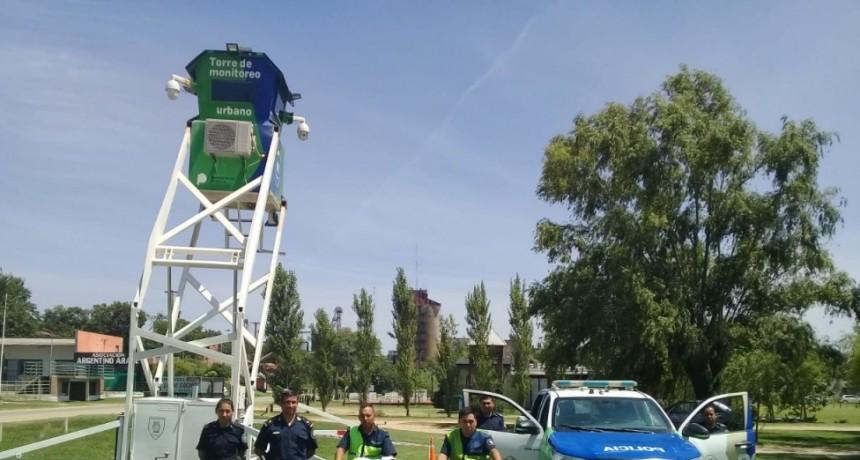 Instalaron la torre de monitoreo