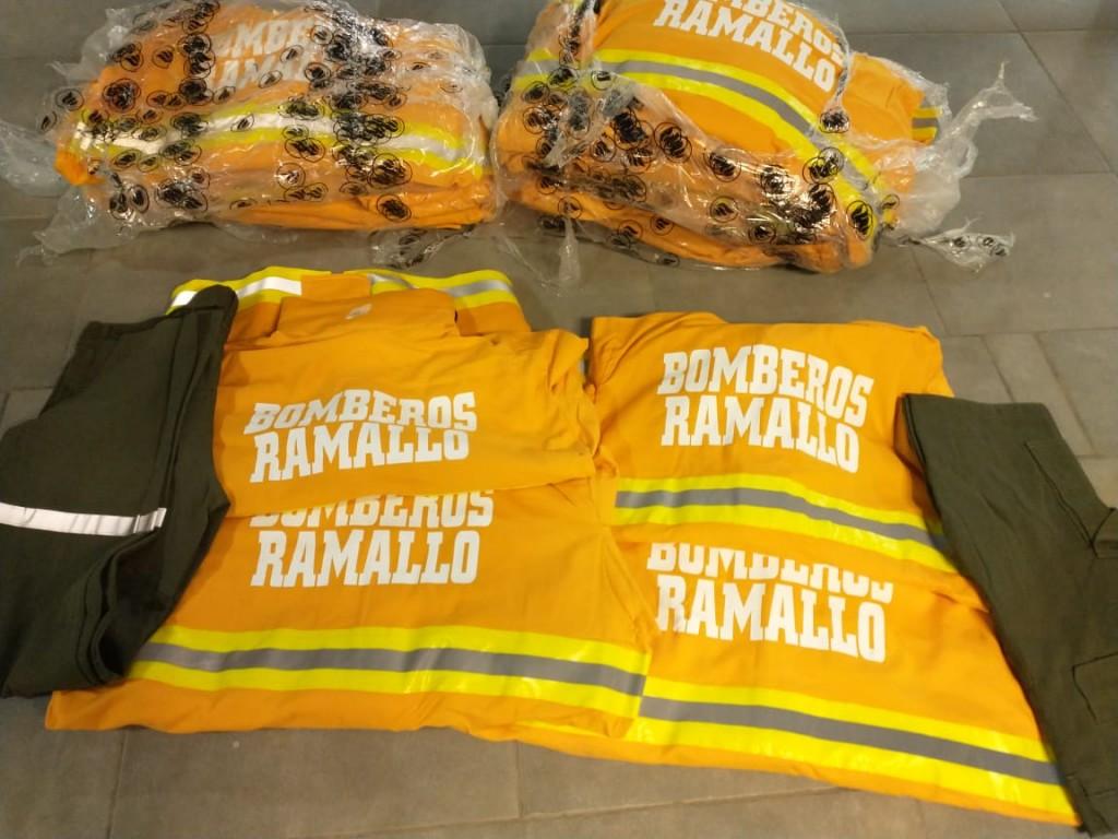 Más equipamiento, más protección para bomberos voluntarios de Ramallo