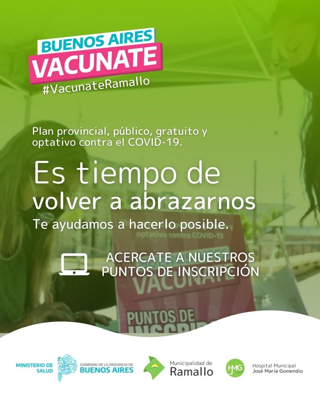 Puntos de inscripción para vacunarse contra el Coronavirus