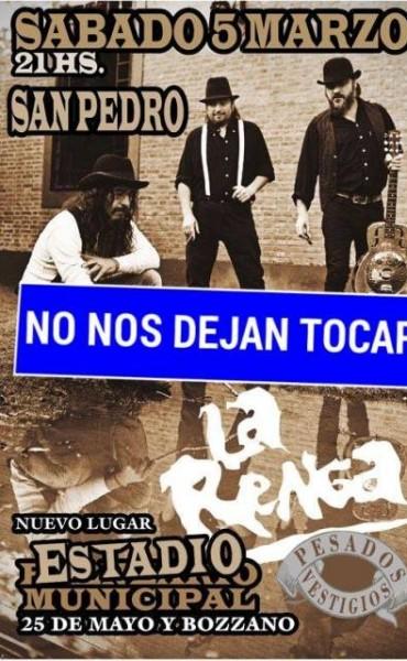 Suspendieron el show de La Renga en San Pedro