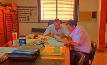 Reunión del Intendente con el Jefe de la División Técnica de Vialidad Provincial