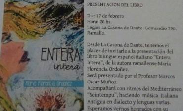 Florencia Ordoñez presenta su nuevo libro de poesías