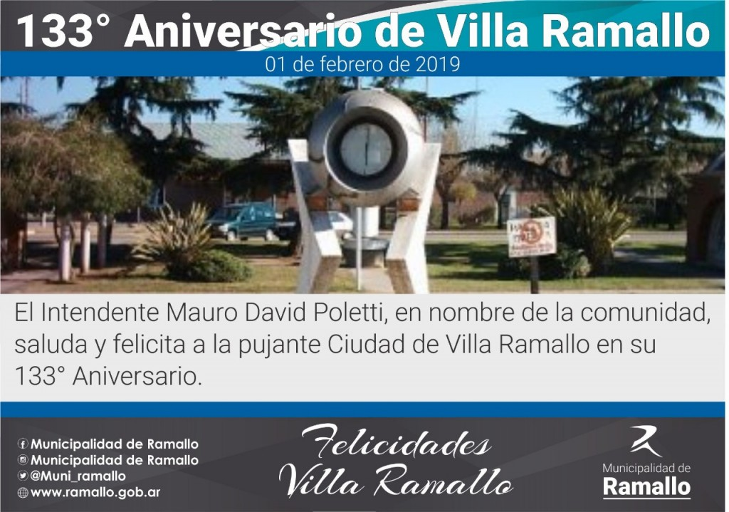 Villa Ramallo: 133 Aniversario