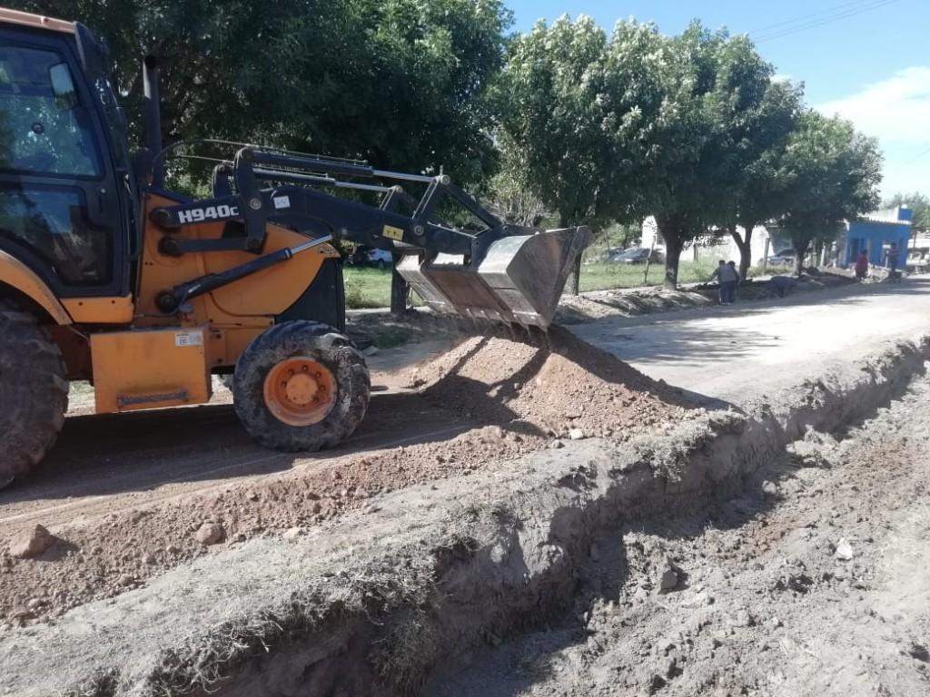 Villa General Savio:  Obras en barrio Santa Mónica