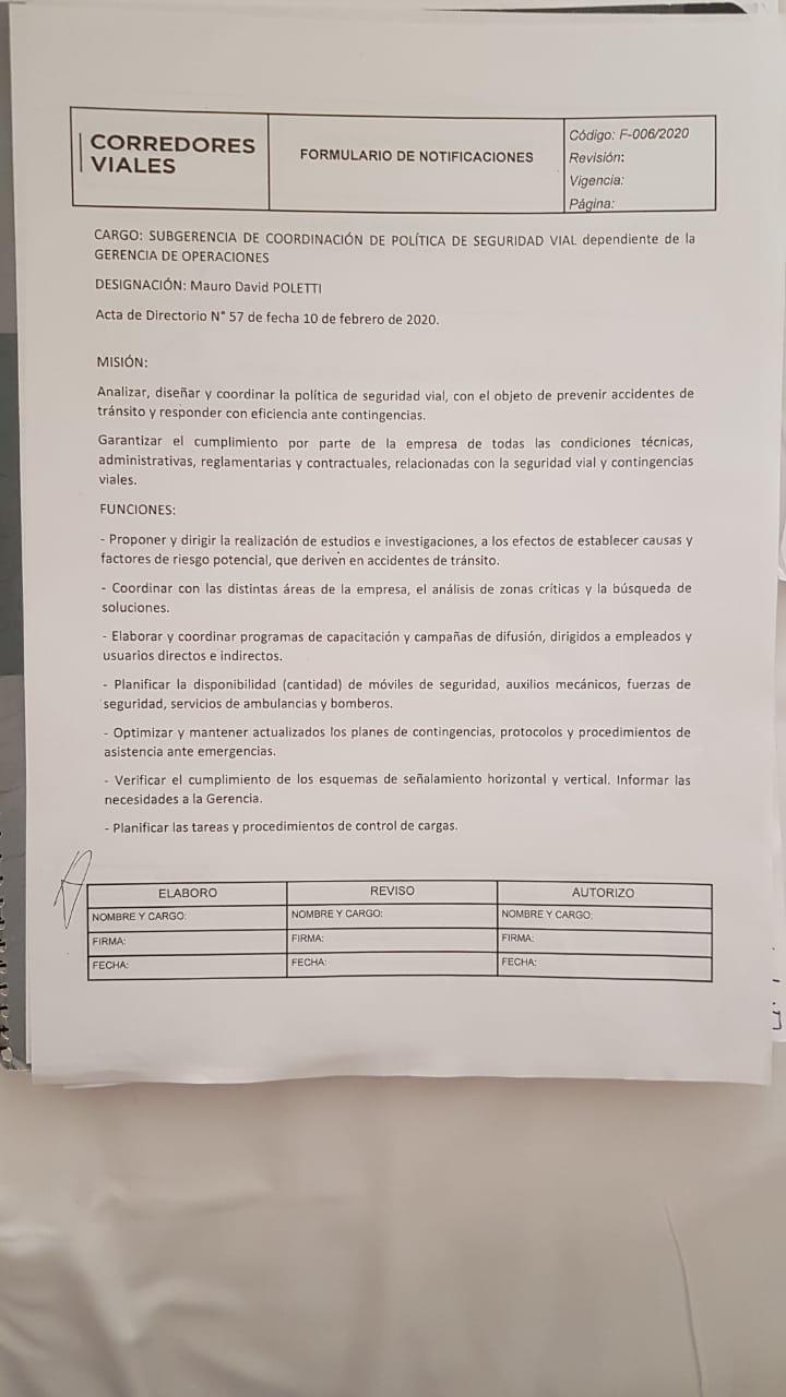 El Intendente (MC) Mauro Poletti se sumó al gobierno nacional