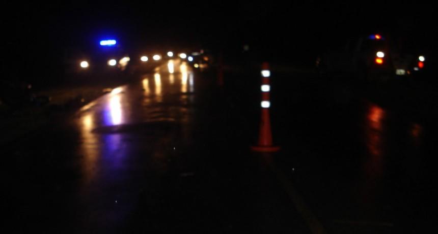 Accidente fatal en el camino de la costa en el tramo interno cerca de la empresa Loma Negra