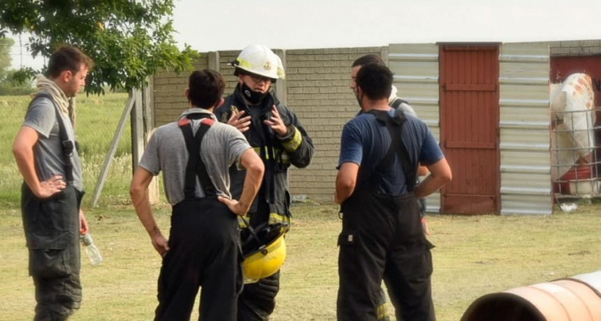 Capacitación para bomberos voluntarios de Ramallo