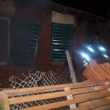 Se quemó parte de una vivienda en Ramallo