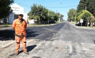 Reparación en el acceso Maiztegui