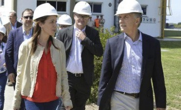 El presidente Macri visitó la planta de Bunge Ramallo