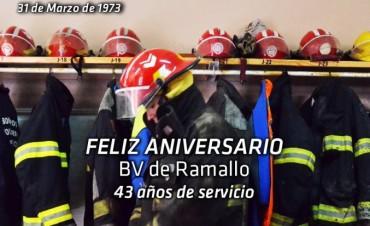 Bomberos Voluntarios Ramallo cumple 43 años de servicio