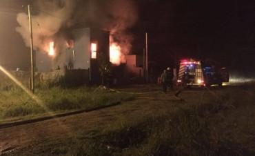 Incendio en Villa Ramallo