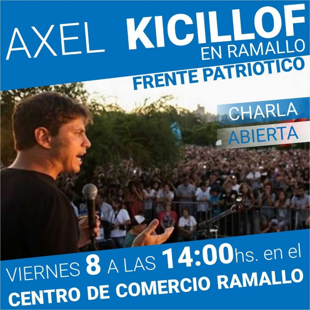 Kicillof en Ramallo