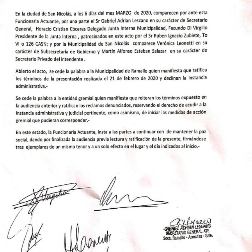 """Lescano """"Llevaremos adelante acciones administrativas y gremiales"""