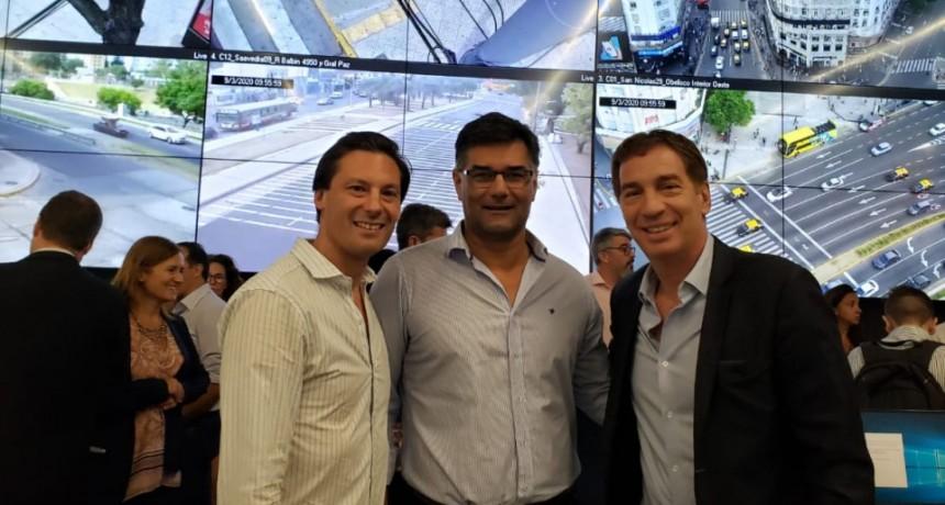 El Intendente Gustavo Perié Visitó junto al Secretario de Seguridad el Centro de Monitoreo Urbano de la Ciudad de Buenos Aires.