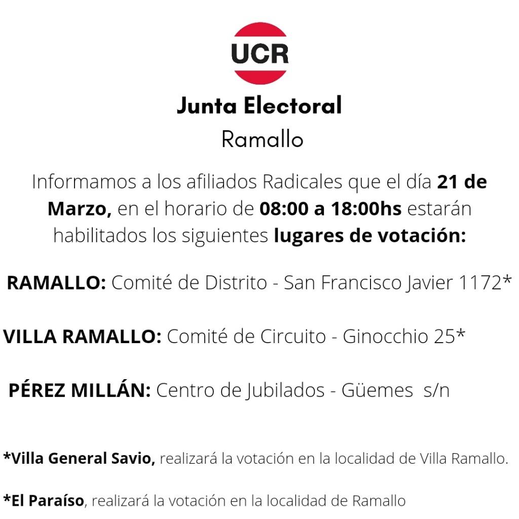 El radicalismo vota con lista única en Ramallo con la mirada puesta en la competencia provincial