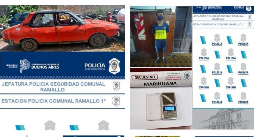 Detenidos por amenazas e infracción a la ley de drogas