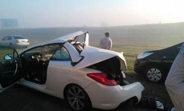 Corte total en la Ruta 9: Multiple accidente a la altura del basural de Baradero, hay por lo menos veinte vehículos involucrados