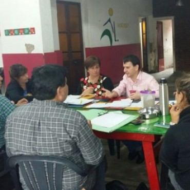 Suárez Erdaire se reunió con autoridades locales