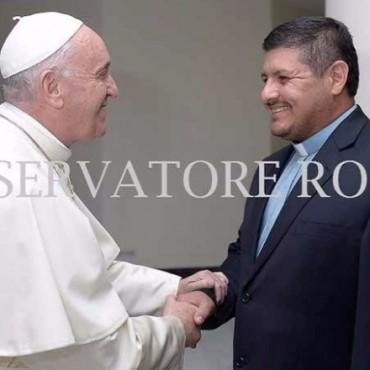 El padre David fue recibido por el Papa Francisco